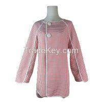 New Design Red Plaid Raglan Sleeve Coat for Ladies