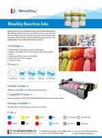Digital Printer . Textile Digital Inks . Reactive Inks, Sublimation Inks, Textile Pigment Inks