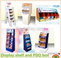 Free plain sample cardboard display shelf, counter dsiplay