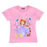 2014 new style children's summer Tees baby frozen short-sleeve cartoon t-shirt 100% cotton girls top clothes
