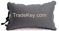 black peached auto-inflatable travel pillow