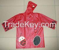Girl's Hooded Cheap Raincoat