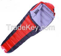 Down-filled cask sleeping bag