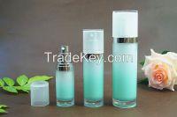 Cosmetic acrylic white clear anti-blemish cream jars