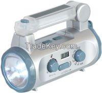 Hand Crank Solar Torch Flashlight (LVC-Y1086)
