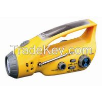 Crank Dynamo Torch LED With Mobilephone Charger and AM/FM Radio (LVC-288D)