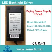Dajing 12V 4A Power Supply for LCD/LED Monitor DJ-U48S-12
