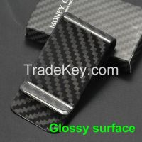 Top Quality Tight 100% Real Geguine Carbon Fiber Money Clip Holder