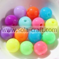 Wholesale Assorted Color Acrylic Solid Beads Fluorescent Bead For Brac