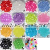 6MM, 8MM, 12MM Matte acrylic jewelry Round Smooth Beads For d�©cor cloth/
