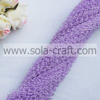 3mm rice-shaped purple color Artificial ABS pearl beaded chains for d�©