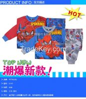 PETELULU Wholesale - children clothes 2014 fall autumn boys  Spiderman long sleeve styling cartoon t shirt winter children clothing