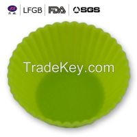 Customized top quality heat resistance silicone cup cake molds