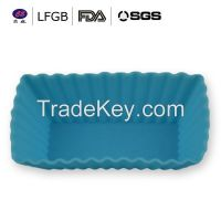 Professional lovely high quality silicone cup cake molds