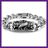 the fashion stainless steel bracelet,men's bracelet,wholesale bracelet