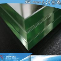 Clear toughened Dupont PVB/SGP laminated glass