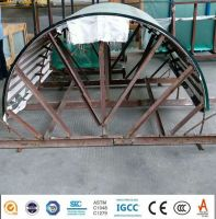 Outdoor Architecture Customized Size Safety 6mm 8mm Curved Tempered Glass Price