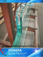 High quality clear laminated glass for fence/handrail/railing/stairs tread/partition glass use