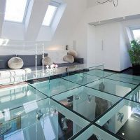 Transparent Glass Floor Workplace, Clear Sgp Laminated Glass Floor Price in China