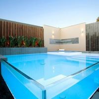 Supre thick clear laminated glass wall,laminated Swimming Pool Safety Fence
