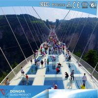 Clear tempered SGP laminated glass bridge