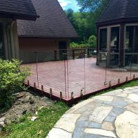 bespoke glass fence, clear tempered framless glass pool/garden fence