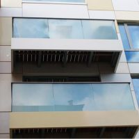 CE certificate milky white PVB laminated glass balcony fence