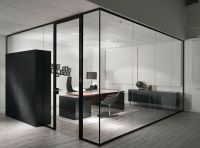 High quality tempered glass office partitions