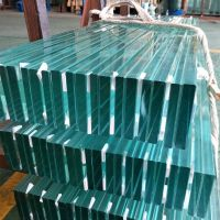 flat shap ultra clear laminated glass 10mm price for floor and staircase