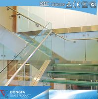Triple layer super clear tempered SGP laminated glass stair tread
