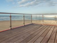 Sgp Laminated Glass Stainless Steel Glass Balustrade at The Coast with SGCC Certificate