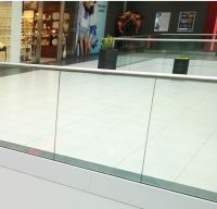 High Safety Interior Railing Designs Tempered Laminated Glass Railing for Shopping Mall