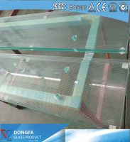 3x12mm SGP laminated glass stair tread