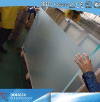 25.52mm VSG glass acid etched balustrade