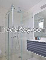 Tempered safety glass for glass shower doors screens
