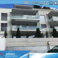 Silkscreen printing VSG balustrade glass for Switzerland Villa