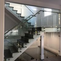 Indoor 10mm 12mm toughened safety tempered glass railing handrail panles