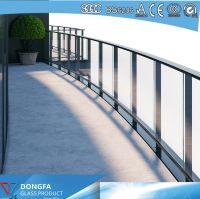 Frameless balustrade Sentryglas Laminated Railing Glass Price Per m