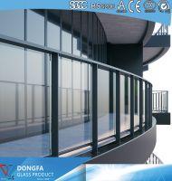 Frameless Sentryglas Laminated Railing Glass Price Per m