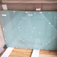 Milk White Toughened & Laminated Clear Safety Glass Balustrade Panels 17.5mm Thick for decking landing baluster system