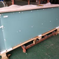 Balcony Balustrade Raling Frosted glass Milk White PVB Film Laminated Glass