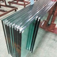 15mm 19mm jumbo size clear toughened safety glass wall for swimming pool