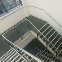 custom 12mm clear tempered safety glass for aluminium glass railing