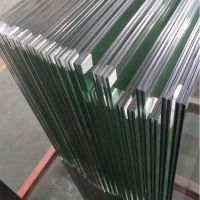 13.52mm clear PVB tempered laminated safety glass panel for frameless balustrade railing
