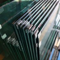 12mm Clear Tempered glass for Button Structural Balustrade Railing