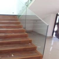 CE standard Commercial Aluminum 12mm Clear Tempered Safety Glass Railing