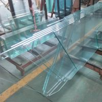 Custom 12mm starfire Ultra Clear Tempered Safety glass for Comercial interior Railing systems