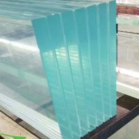 walkable transparent safety tempered laminated glass panels for architectural flooring