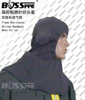 Falme Resistant headgear Fire Protective hood mesh ear