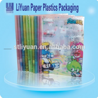 Clear plastic book cover for packaging